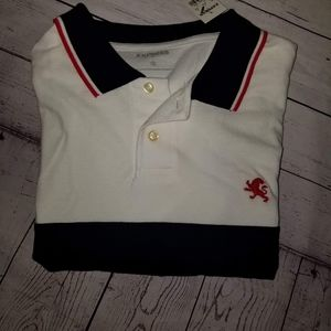Mens Size XL Express Polo - NWT red white & blue